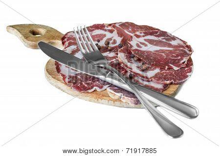 Bacon Sliced ??knife Fork