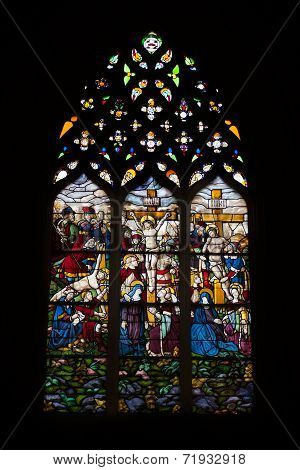 Stained Glass At Batalha Monastery