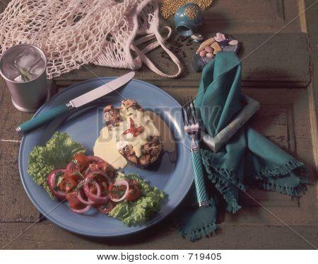 Grilled Tuna W/ Aioli Sauce