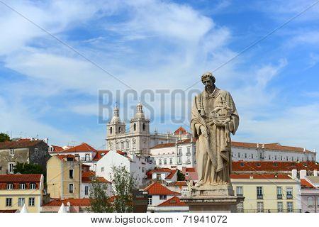 Statue of Santa Luzia in Lisbon, Portugal