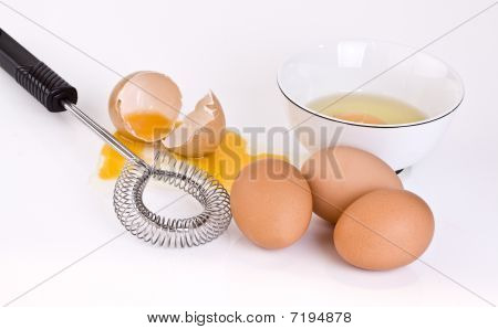 Eggs Bowl And Wisk