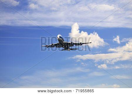 Passenger Aircraft In Flight
