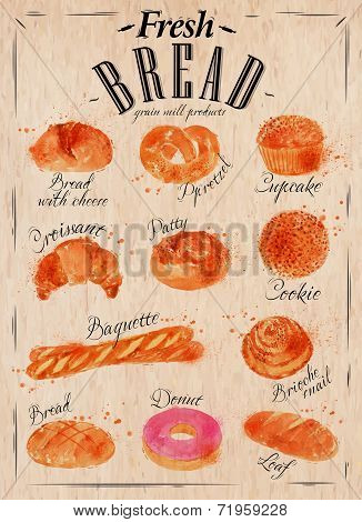Bread products poster kraft
