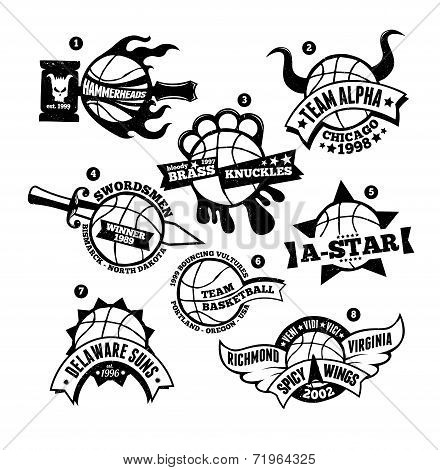 Basketball Logo Badge