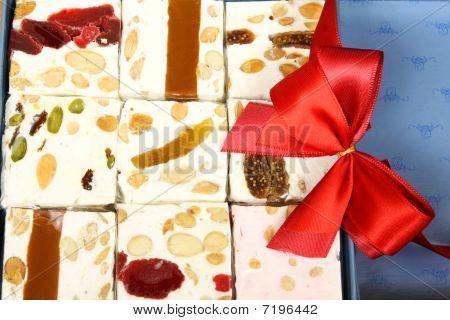 Sweet Nougat Bars In Box
