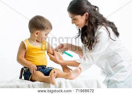 Doctor Injecting Child