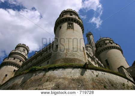 French medieval castle Pierrefond. poster