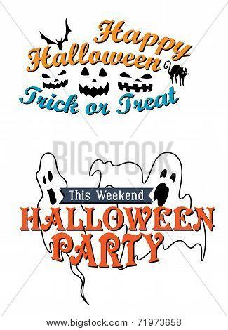 Happy Halloween party advertisement