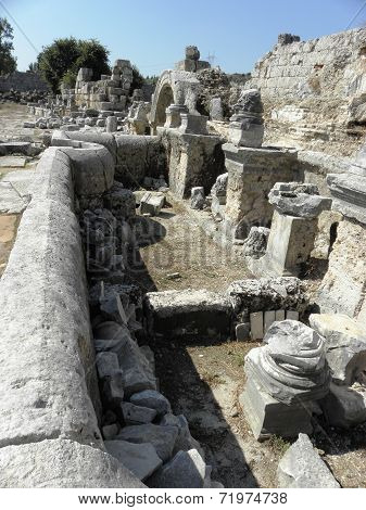 Remains of the Nymphaeum at Perg.