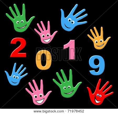 New Year Represents Two Thousand Nineteen And Annual