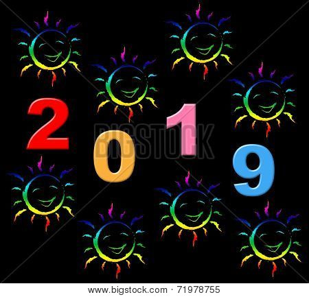 New Year Shows Two Thosand Nineteen And Celebrate