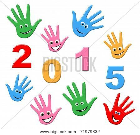 New Year Represents Two Thosand Fifteen And Annual
