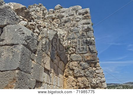 Ancient fortress in Israel Nimrod.