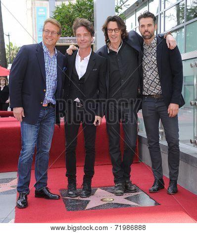 LOS ANGELES - MAY 09:  Rick Springfield, Doug Davidson, Richard Marx & Jason Thompson arrives to the Walk of Fame Honors Rick Springfield  on May 09, 2014 in Hollywood, CA.