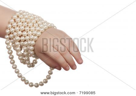 The Child Hand In Beads