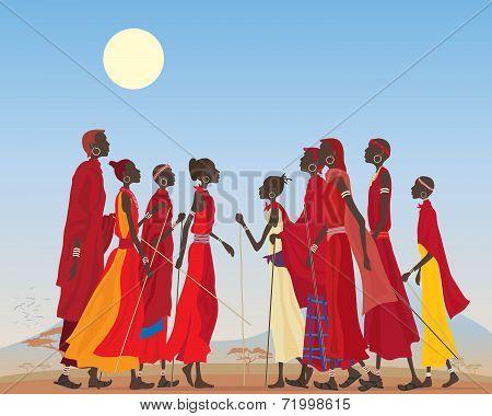 Masai Men And Women