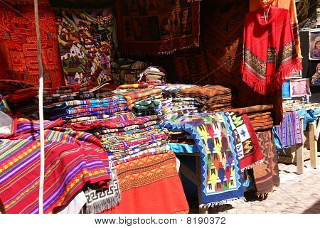 Colorful Handmade Blankets & Tablecloths,