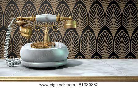 Marble Telephone And Art Deco Scene