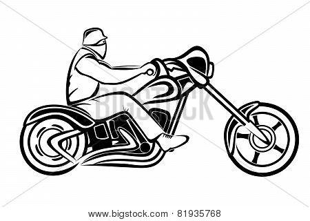 Rider on a chopper