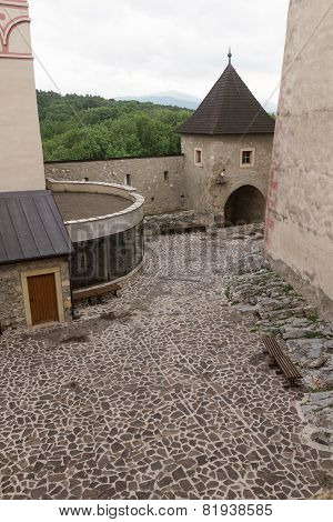 Interior Of The Medieval Castle Of The City Of Trencin In Slovakia