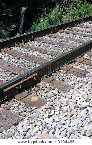 Sideview Railroad Tracks