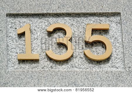 Image of the number 135