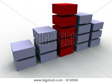 Business Success (3D Chart)