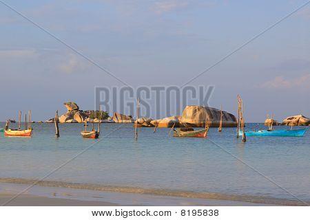 Fishing Boats On Belitung Island