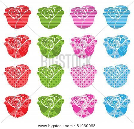 Pattern Filled Roses