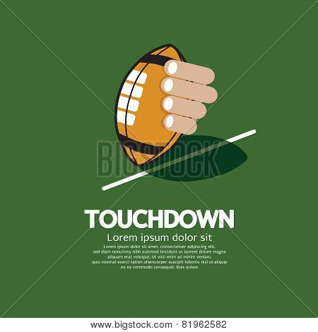 Touch Down American Football.