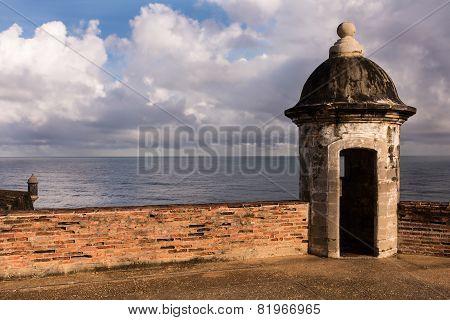 Sentry Boxes In Old San Juan's Fort San Cristobal.
