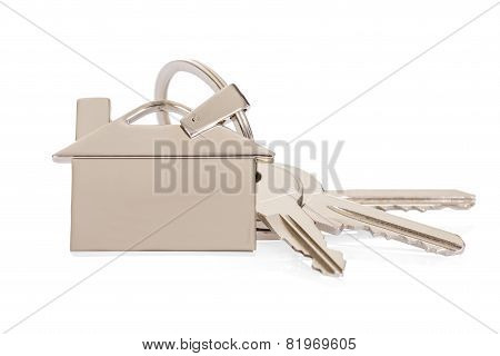 House Key With Keychain
