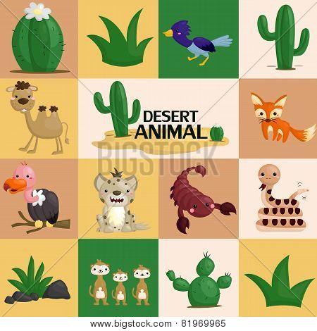 square desert animal vector