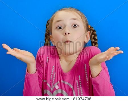 young cheerful girl