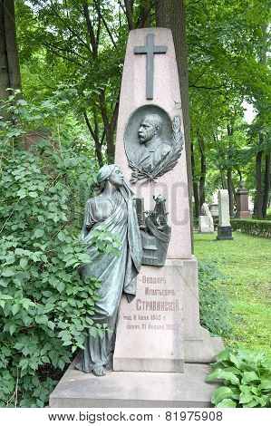 Necropolis. Grave Of The Opera Singer Fedor Stravinsky