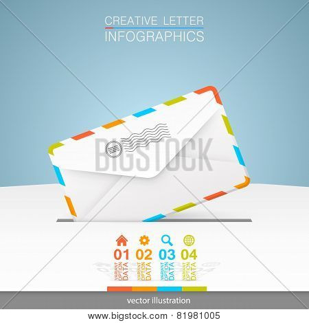 Letter on a white background