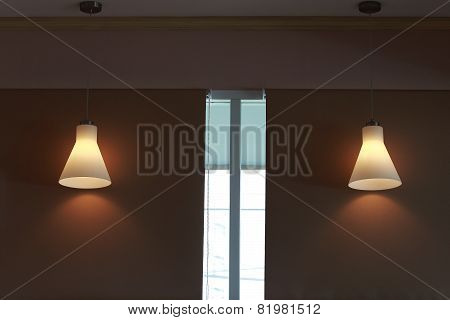 Modern Candelabrum On Dark Wall Background