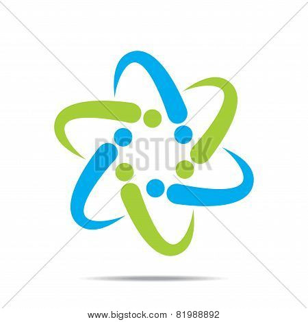 creative abstract business discussion group or meeting stock vector