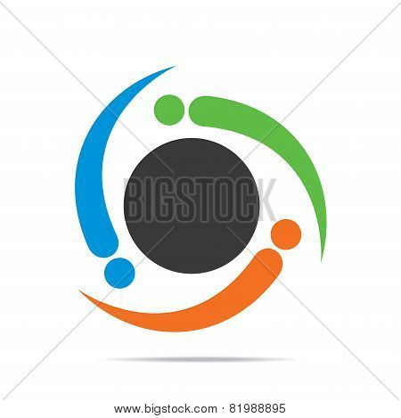 creative business team icon design vector