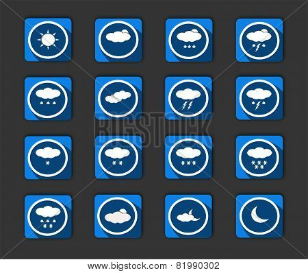 Weather Icons Blue