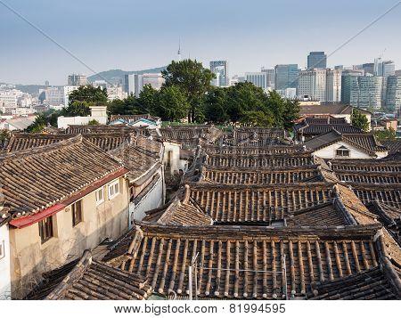 Old Korean roof