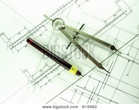 Technical Pen & Compass