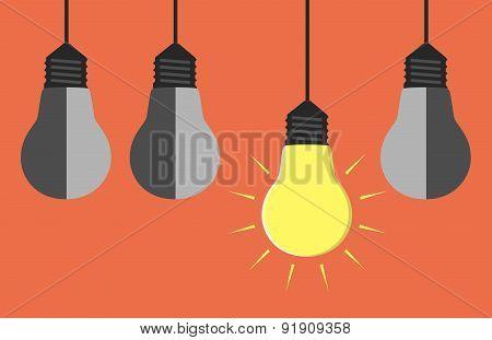 Light Bulbs Hanging
