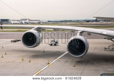Aeroplane Engines At Airport