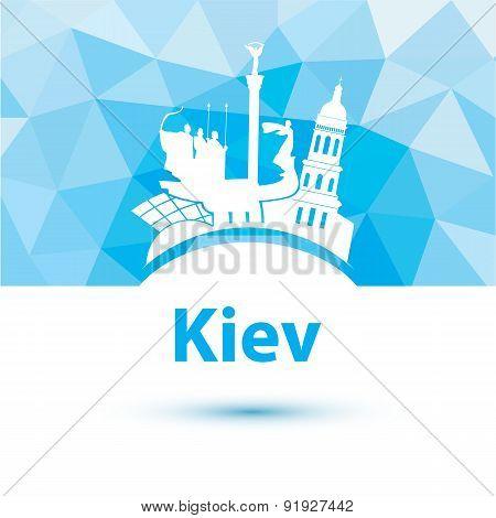 Vector Silhouette Of Kiev.