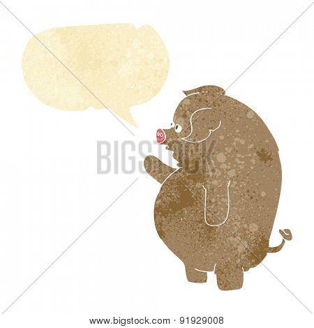 cartoon fat hog