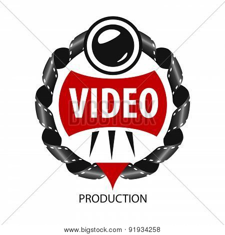 Vector Logo Emblem Of The Lens And Videotapes