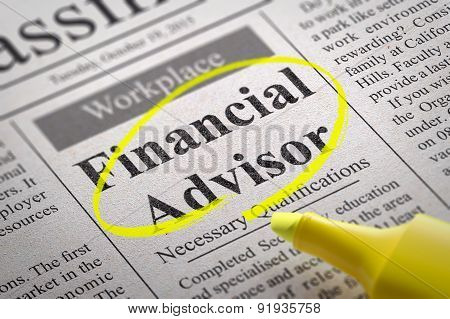Financial Advisor Jobs in Newspaper.