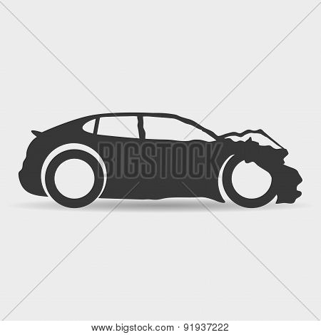 Vector sign. Car.