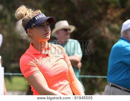 Charley Hull At The Ana Inspiration Golf Tournament 2015